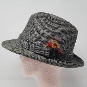Vintage Dobbs Fifth Ave New York Wool Tweed Fedora